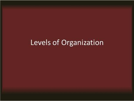 Levels of Organization. Factors Biotic Factor - living environment, including all organisms Abiotic Factor - nonliving/physical environment Limiting Factor-