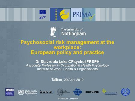 Psychosocial risk management at the workplace: