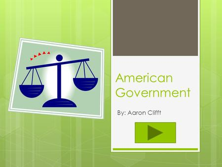 American Government By: Aaron Clifft. Teacher Information  Content Area: Social Studies  Grade Level: 3 rd  Summary: The purpose of this instructional.