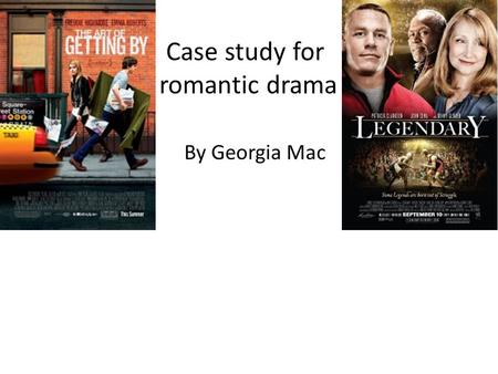 Case study for romantic drama By Georgia Mac. The art of getting by Country: USA Language: English Release Date: 2 September 2011 (UK) See more » Also.