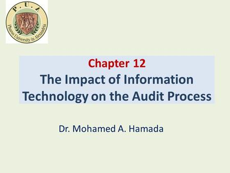 Chapter 12 The Impact of Information Technology on the Audit Process