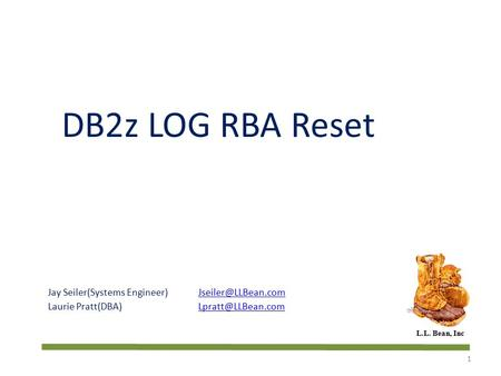 DB2z LOG RBA Reset Jay Seiler(Systems Engineer)