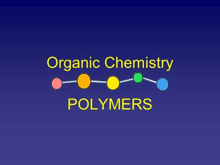 Organic Chemistry POLYMERS. Polymer Poly = many Mer = units Polymers are large molecules that has many units bonded together The individual units made.