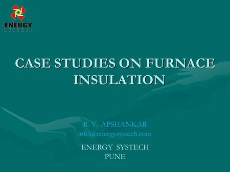 CASE STUDIES ON FURNACE INSULATION