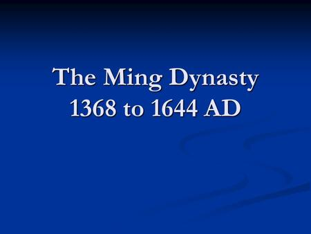 The Ming Dynasty 1368 to 1644 AD. Artist impression of Genghis Khan.
