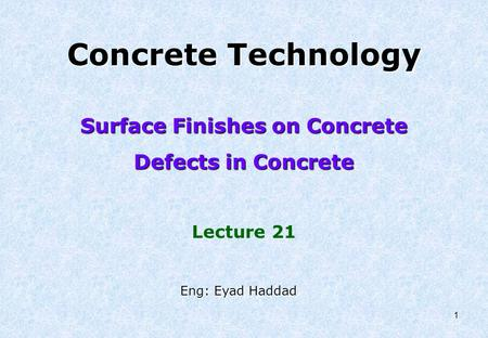 Surface Finishes on Concrete