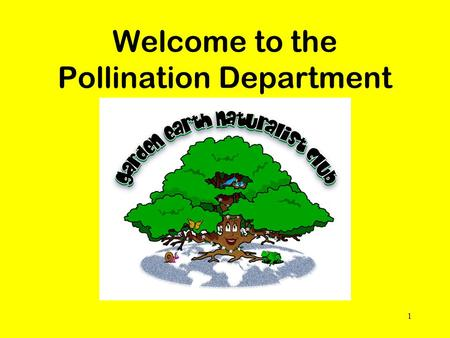 Welcome to the Pollination Department 1. Every place on Earth is an ecosystem, including our club site.
