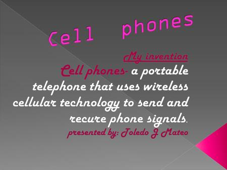  Who invented cell phones- the cell phones were invented by Martin Cooper in 1973.  www.wanttoknowit.com.