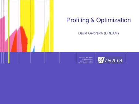 1 1 Profiling & Optimization David Geldreich (DREAM)