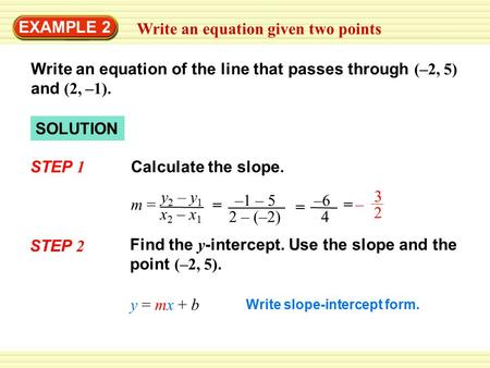 intercept form to standard form calculator  Write An Equation In Slope Intercept Form For The Line That ...