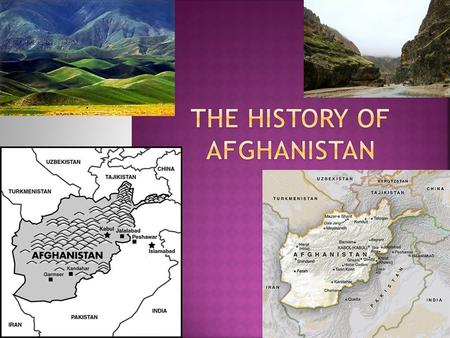 a brief history of afghanistan A brief history of afghanistan afghanistan is an eastern country located to the  north of pakistan it was conquered by alexander the great in the 4th century  bc.