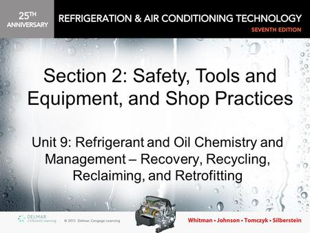 Section 2: Safety, Tools and Equipment, and Shop Practices