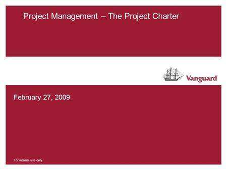 Project Management – The Project Charter