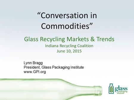 """Conversation in Commodities"""