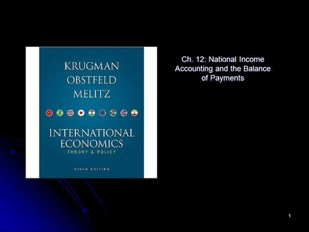 1 Ch. 12: National Income Accounting and the Balance of Payments.
