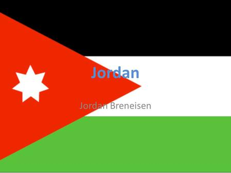 Jordan Jordan Breneisen. The land Jordan is located in the Middle East, south of Syria, east of Israel, and northwest of Saudi Arabia. Jordan has desert.
