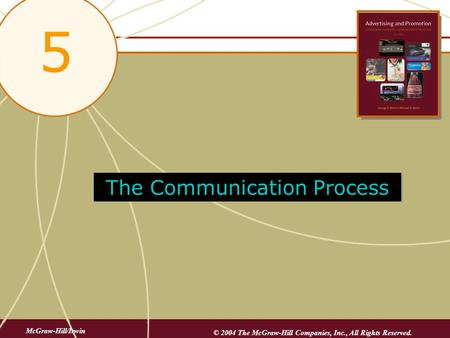 5-1 The Communication Process 5 McGraw-Hill/Irwin © 2004 The McGraw-Hill Companies, Inc., All Rights Reserved.