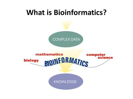 "What is Bioinformatics?. Conceptualizing biology in terms of molecules and then applying ""informatics"" techniques from math, computer science, and statistics."