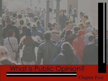 Pearson Education, Inc. © 2005 What is Public Opinion? Chapter Five.