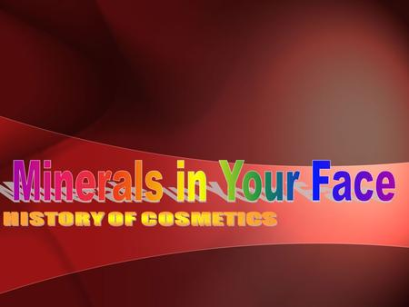 Cosmetics Cosmetics: are substances used to enhance or protect the appearance or odor of the human body. A subset of cosmetics is called make-up, which.