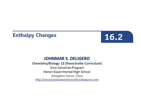 Chemistry/Biology 12 (Nova Scotia Curriculum)