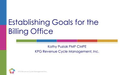 Establishing Goals for the Billing Office