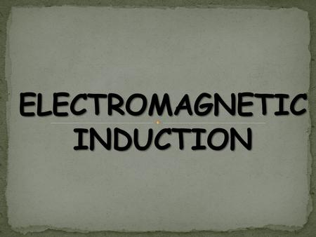 Magnetic effect: An electric current passing through a conductor produces a magnetic field around it. Electro motive force: When a cell is not connected.