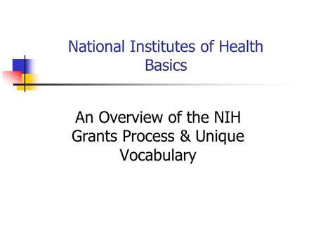 Nih Grants Management