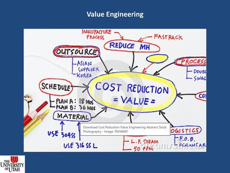 Value Engineering. Definition Value Engineering (VE) is defined as a systematic process of review and analysis of a project, during the concept and design.