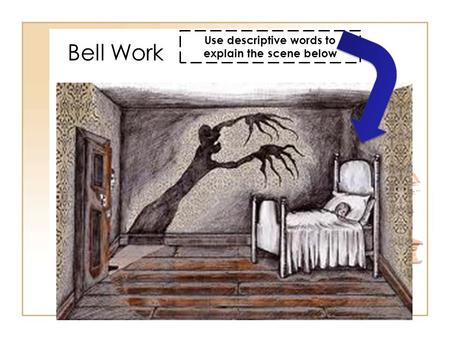 Bell Work Use descriptive words to explain the scene below.