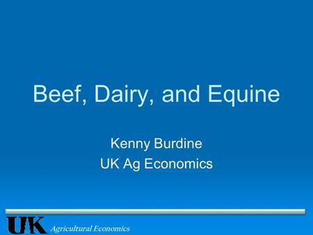 a summary of agricultural economics