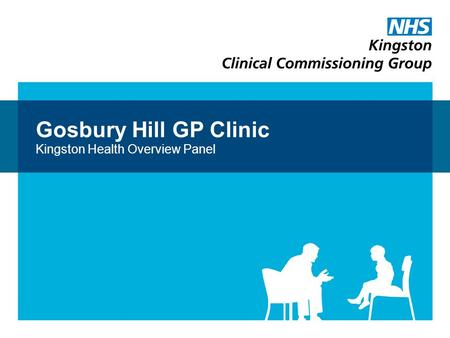 Gosbury Hill GP Clinic Kingston Health Overview Panel.