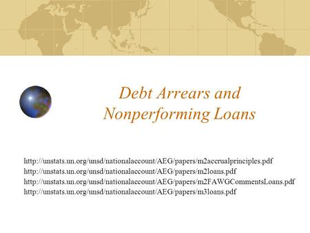 Debt Arrears and Nonperforming Loans