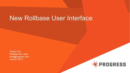 New Rollbase User Interface