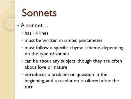 help i need to write a sonnet