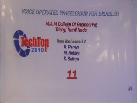 To control the movement of a manual wheelchair by means of human voice for paralyzed patients. AIM: