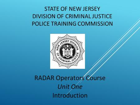 Introduction to RADAR Operator Course