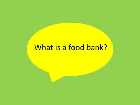What is a food bank?. A food bank is a place which stocks food, typically basic items and non- perishable items, that are then supplied free of charge.