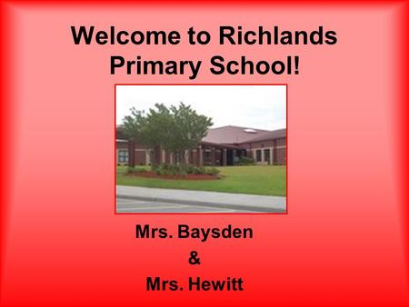 Welcome to Richlands Primary School!