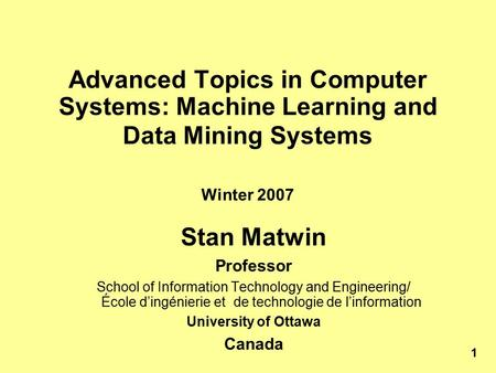 Information Systems interesting subjects to learn in college