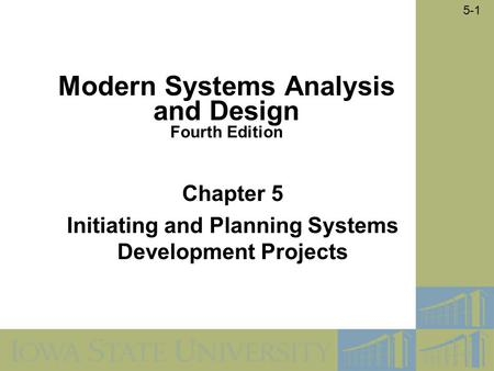 modern systems analysis and design 5