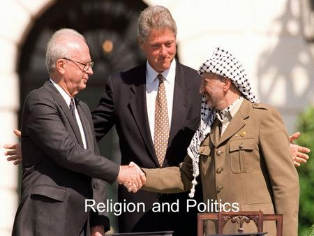 Religion and Politics. In some parts of the world, religion and politics are inseparable. Notable examples of countries where there is a solid connection.
