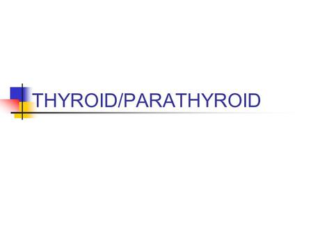 THYROID/PARATHYROID.