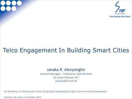 Telco Engagement In Building Smart Cities