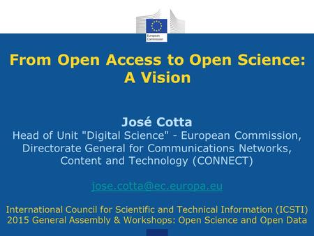 From Open Access to Open Science: A Vision