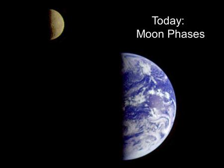 PTYS/ASTR 206Lunar Phases / Eclipses 1/25/07 Today: Moon Phases.