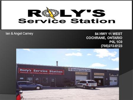 Ian & Angel Carney. Roly's is a part of the Ontario Tire Stewardship An industry-funded organization introducing The Used Tires Program - a province-wide.