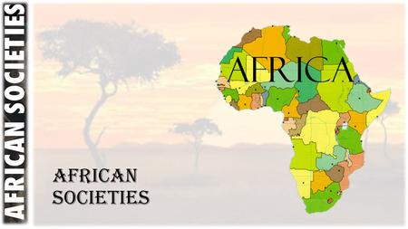 African Societies. The stage is set: A Cultural Collision At this point in human history, not only do we have an ecological collision of germ warfare.