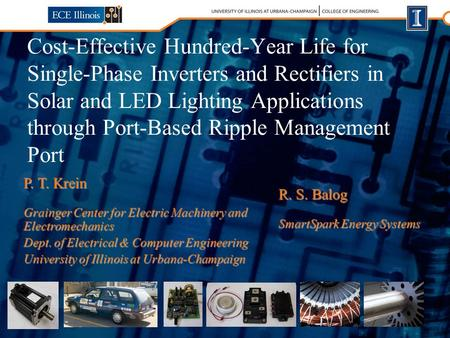 Cost-Effective Hundred-Year Life for Single-Phase Inverters and Rectifiers in Solar and LED Lighting Applications through Port-Based Ripple Management.
