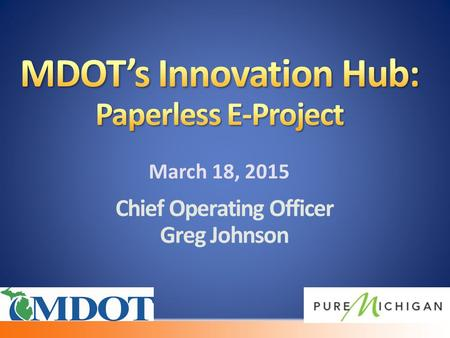 Chief Operating Officer Greg Johnson. 7 Million Sheets of Paper.
